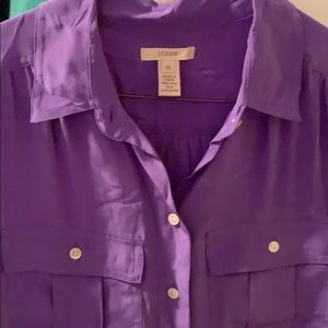 J. Crew Tops - Purple J.Crew 100% silk blouse